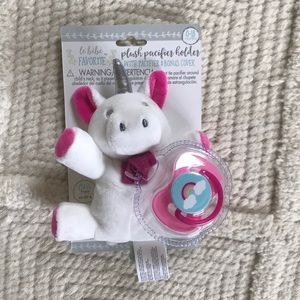 NWT plush pacifier holdee with pacifier